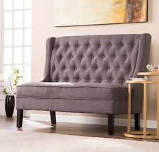 Tufted Settee Bench Armless High Back Loveseat Upholstered Furniture  NEW High Back Loveseat91