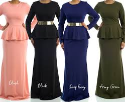 Kabayare Fashion Size Chart Long Sleeve Solid Peplum Maxi Dresses Bridesmaid Maxi Dress