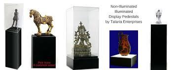 Lighted Display Stand For Glass Art Displaying Art on Display Pedestals Talaria Enterprises Museum Store 72