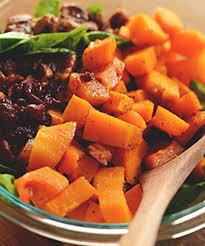 warm roasted ernut squash salad recipe