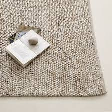 mini pebble wool jute rug natural ivory