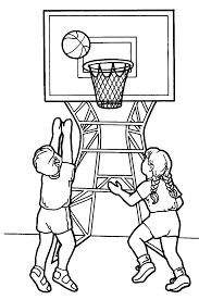 Sport Coloring Page For Kids Mega Sports Camp Vbs Pinterest Coloriage Sur Le Basket L