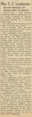 Mrs. C. C. Lamberton   Ann Arbor District Library