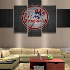 5 piece new york yankee logo baseball canvas painting frames it make your day on yankees canvas wall art with 5 piece new york yankee baseball canvas wall art paintings for sales