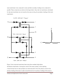 analysis and application of scott connection Standard Power Transformer Connection Diagram connection page 6; 8 main transformers Single Phase Transformer Wiring Connections