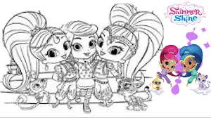 Small Picture Shimmer And Shine Coloring Pages Free OnlineAndPrintable