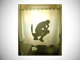 funny shower curtain. The Thinker Funny Shower Curtain R