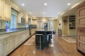 kitchens with antique white cabinets awesome light wood kitchen cabinets with dark floors