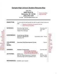 Resume Templates For Highschool Students No Experience Resume Impressive Resume For Highschool Students