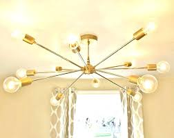 gold sputnik chandelier the modern brass black and sputn