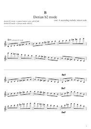 Flute Scales Melodic Minor Mode Sheet Music For Flute