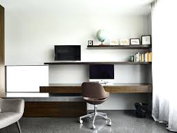 white floating desk white floating desk with chrome task chairs home office modern and sheer curtains
