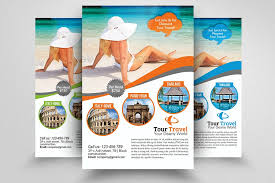 Travel Agency Flyers Sample Free Travel Brochure Templates Examples Inspiration Free Sample Flyers