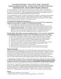 Memo To Board Of Directors gt 100 strategy memo 70