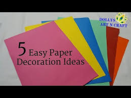 5 Easy Paper Decorations Ganesh Chaturthi Diwali Christmas New Year Decoration Ideas