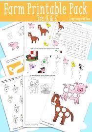 Preschool Farm Printables Farm Animal Preschool Activities And Farm ...