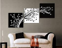 Large 3 piece wall decor abstract art painting picture hd printed on canvas 1059. 3 Piece Wall Art Modern Abstract Large Floral Black And White Tree Of Life Oil Painting On Canvas Home Decoration T 401 3panel 5376 3 Piece Oil Painting