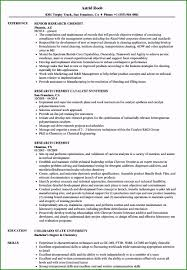Research Resume Samples 48 Astounding Chemistry Resume Examples For Your Accomplishment