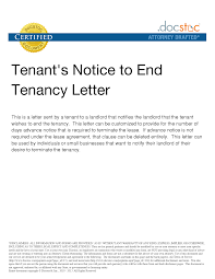 Best Photos Of Renters Notice Letter Tenant Notice Letter