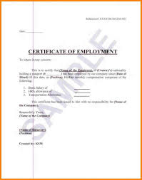 Employment Certificate Sample For Us Visa Application Archives