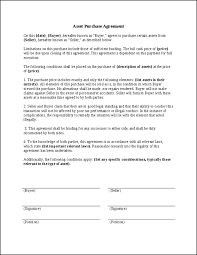 Sample Asset Purchase Agreement 24 Images Of Template Purchase Agreement Letter Helmettown 4