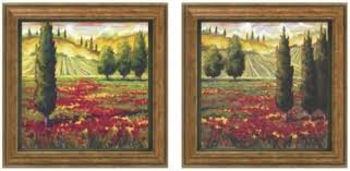 tuscany in bloom framed wall art set of 2 set of two green on framed wall art set of 2 with photo gallery of framed wall art set of 2 viewing 18 of 34 photos