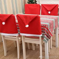 kitchen chair back covers. Christmas Chair Covers Red Non Woven Fabric Table Decoration Hat Back Cover Home Decorations Supplies Furniture Protectors For Kitchen