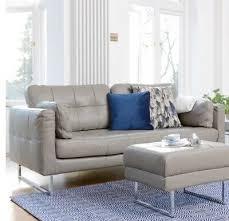 dwell paris leather three seater sofa