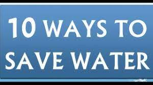 10 ways to save water you