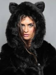 faux fur coat women black hooded long sleeve oversized winter coat no 6