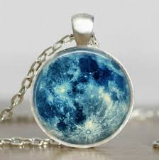 blue moon necklace full moon jewelry
