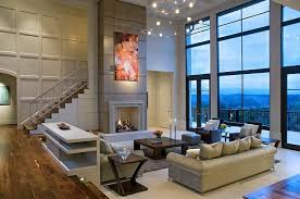 excellent sleek living room furniture ultra modern two story living room stands below a full glass facade ov