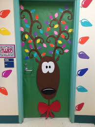 christmas office door decorating ideas. Rudolph The Red Nose Reindeer Christmas Door Decoration Ideas Decorating Office