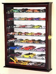 7 adjustable shelves mirror back hot wheels matchbox cast cars 1 64 1 43 model display case lockable