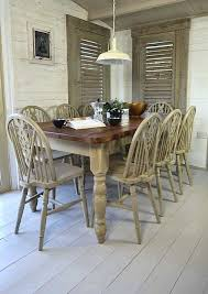 shabby chic dining table set rustic shabby chic dining table with 8 chairs by the regard