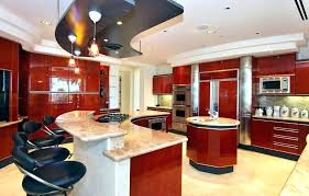 laminate kitchen countertops red kitchen modern kitchen with red gloss cabinets breakfast bar red laminate kitchen