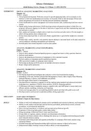 Analyst Marketing Analytics Resume Samples Velvet Jobs