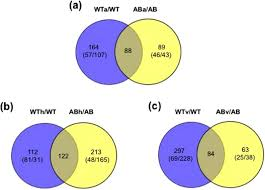 Gcrr Charts Venn Diagrams Showing The Comparison Of Proteome Changes Of