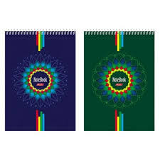 <b>Блокнот</b> А5 60л клетка спираль тв.подложка <b>Four Colour</b> ...