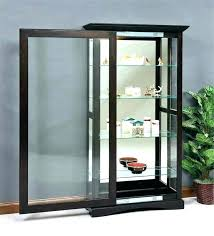 black curio cabinets cabinet sliding door modern small glass display black curio media storage cabinet with