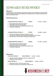 Basic Resume Template 2018