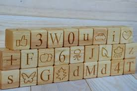 26 english wood alphabet blocks all in 1 abc wood blocks baby shower