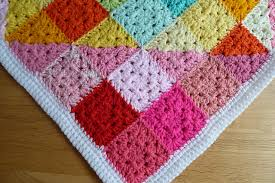 Granny Square Blanket Pattern Beauteous Geometric Rainbow Granny Square Blanket Pattern Gallery