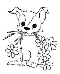 Puppy Coloring Pictures Pages Printable To Print Color Dog Pals