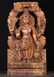 wooden standing vishnu statue 18