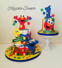Sesame Street Birthday Cake And Smash Cake Aggies Sweets In 2019