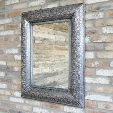 rectangular large embossed mirror wall