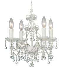 crystorama paris market 4 light clear crystal white mini chandelier