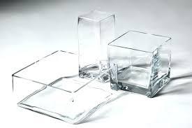 large square glass vase x cm gv06 clear vases