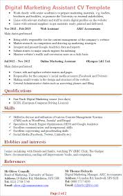 digital-marketing-assistant-cv-template-2